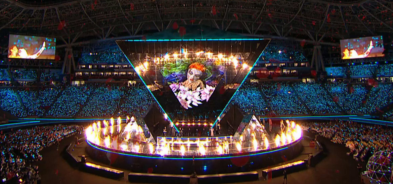 Virtual reality painting performance - WorldSkills opening ceremony Kazan
