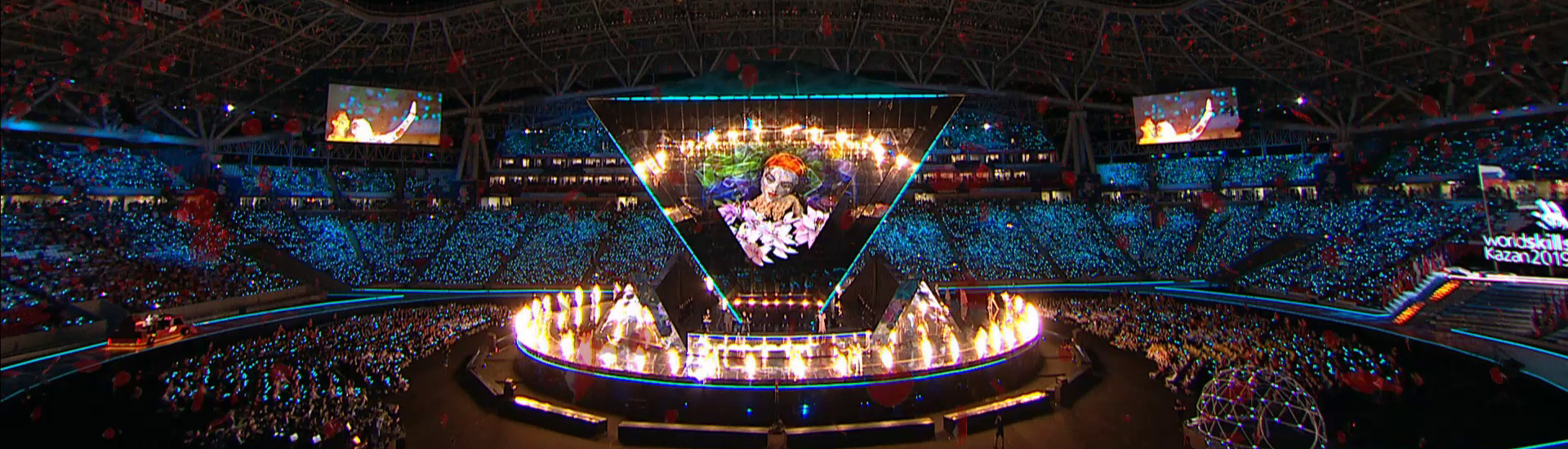 Virtual reality painting performance - WorldSkills opening ceremony Kazan